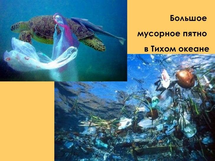 Большое  мусорное пятно  в Тихом океане