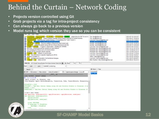 Behind the Curtain – Network Coding  • Projects version controlled using Git  • Grab projects via a tag for intra-project ...