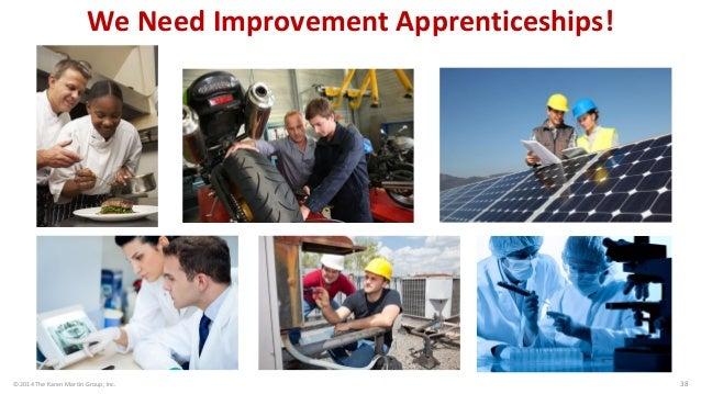 © 2014 The Karen Martin Group, Inc.  38  We Need Improvement Apprenticeships!