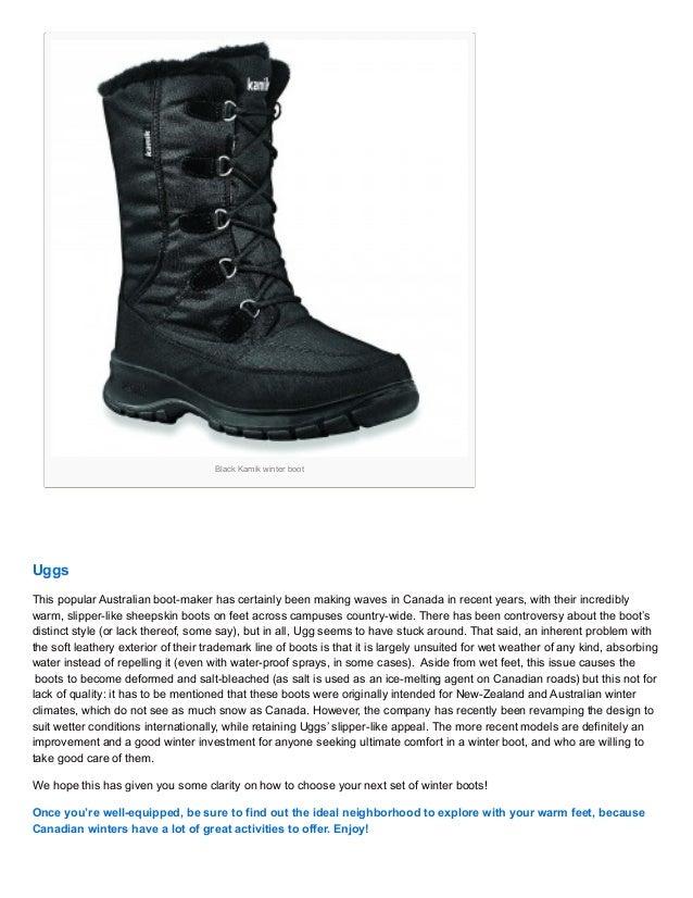 top winter boot brands in canada