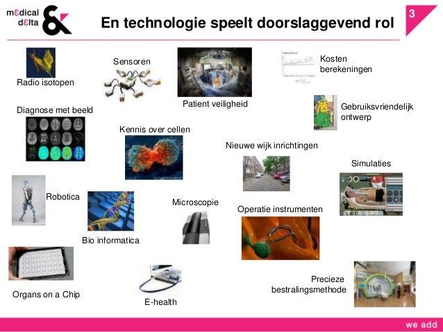 3  En technologie speelt doorslaggevend rol  Radio isotopen  Sensoren  Patient veiligheid  Diagnose met beeld  Kennis over...