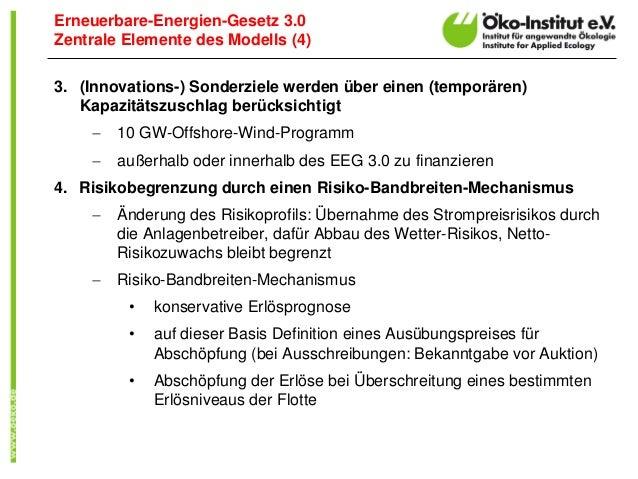 3.(Innovations-) Sonderziele werden über einen (temporären) Kapazitätszuschlag berücksichtigt  10 GW-Offshore-Wind-Progra...