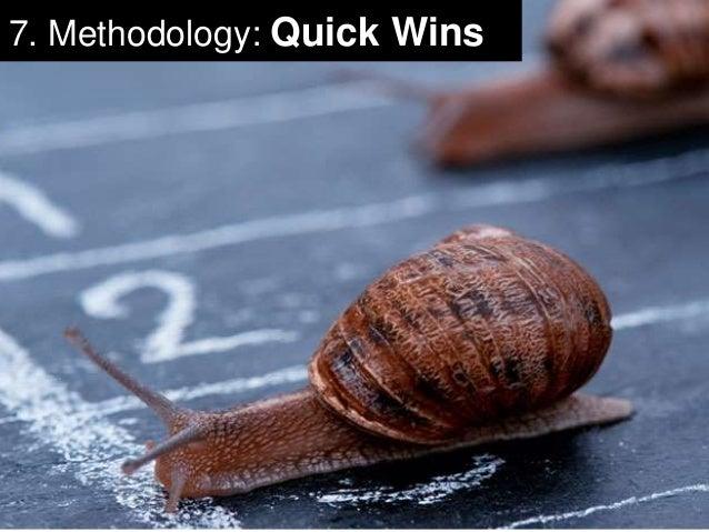 23  7. Methodology: Quick Wins