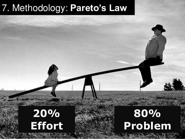 7. Methodology: Pareto's Law  20%  Effort  80%  Problem
