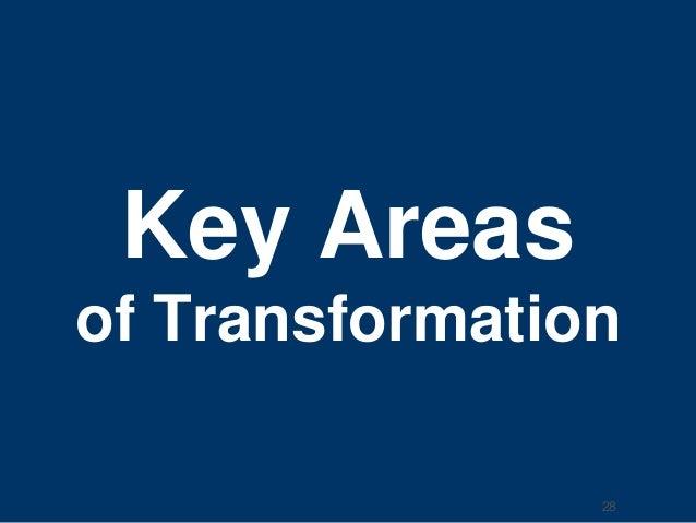 Key Areas  of Transformation  28