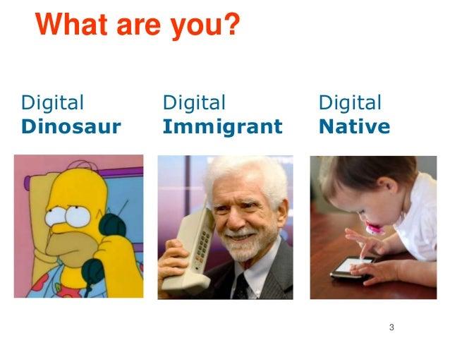What are you?  3  Digital  Dinosaur  Digital  Immigrant  Digital  Native