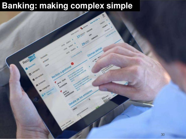 Banking: making complex simple  30