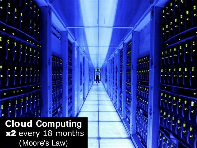 Cloud Computing  x2 every 18 months  (Moore's Law)