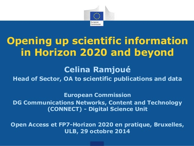 Opening up scientific information in Horizon 2020 and beyond