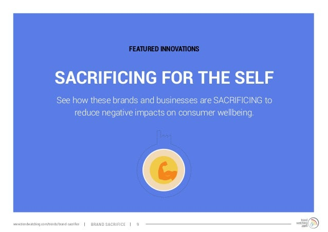 FEATURED INNOVATIONS  SACRIFICING FOR THE SELF  See how these brands and businesses are SACRIFICING to  reduce negative im...