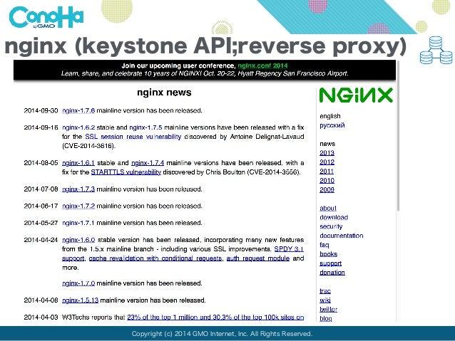 nginx (keystone API;reverse proxy)  Copyright (c) 2014 GMO Internet, Inc. All Rights Reserved.