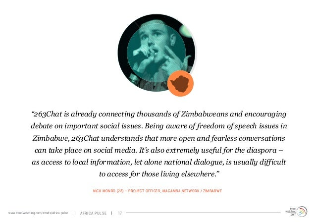 """""""263Chat is already connecting thousands of Zimbabweans and encouraging  debate on important social issues. Being aware of..."""