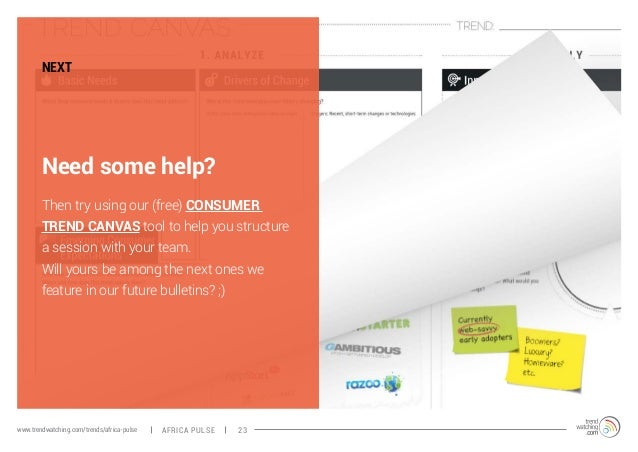 NEXT  Need some help?  Then try using our (free) CONSUMER  TREND CANVAS tool to help you structure  a session with your te...