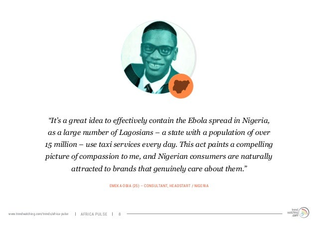 """""""It's a great idea to effectively contain the Ebola spread in Nigeria,  as a large number of Lagosians – a state with a po..."""