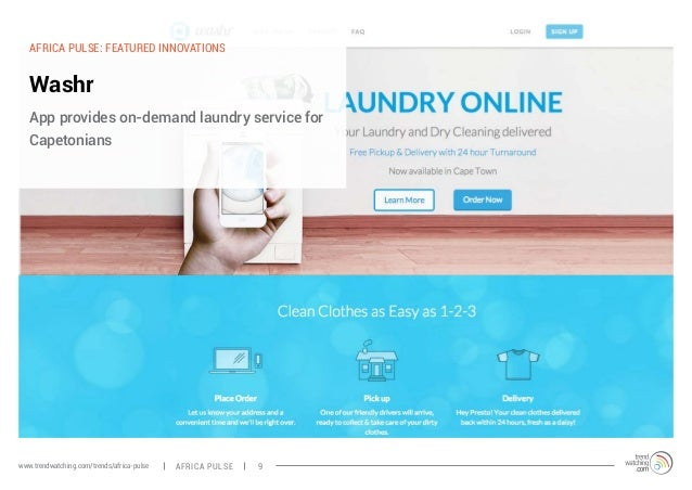 AFRICA PULSE: FEATURED INNOVATIONS  Washr  App provides on-demand laundry service for  Capetonians  www.trendwatching.com/...