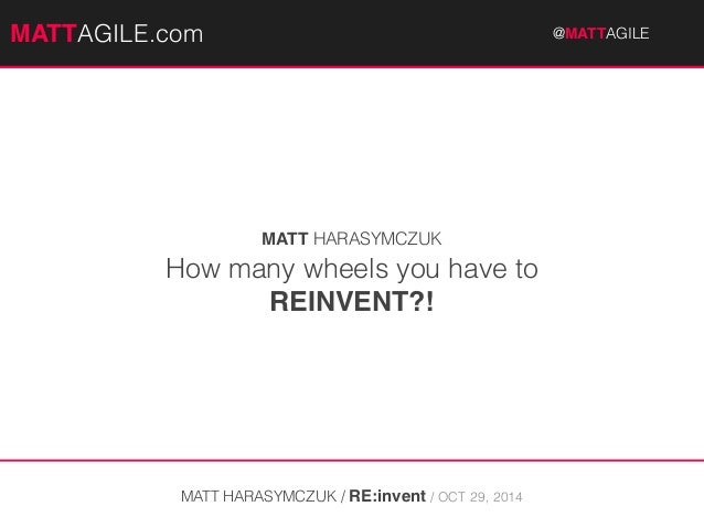 MMAATTTATGAILEG.coImL E.com @MAT@TMAAGTILTEA #GcIaLrEeercon  MATT HARASYMCZUK  How many wheels you have to  REINVENT?!  MA...