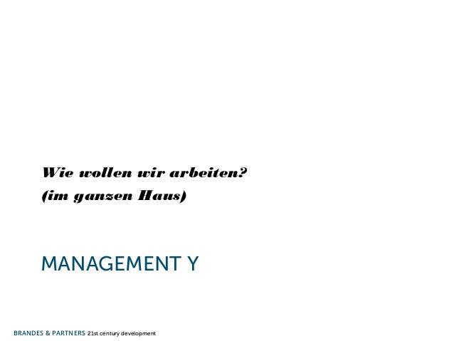 Wie wollen wir arbeiten?  (im ganzen Haus)  MANAGEMENT Y  BRANDES & PARTNERS 21st century development