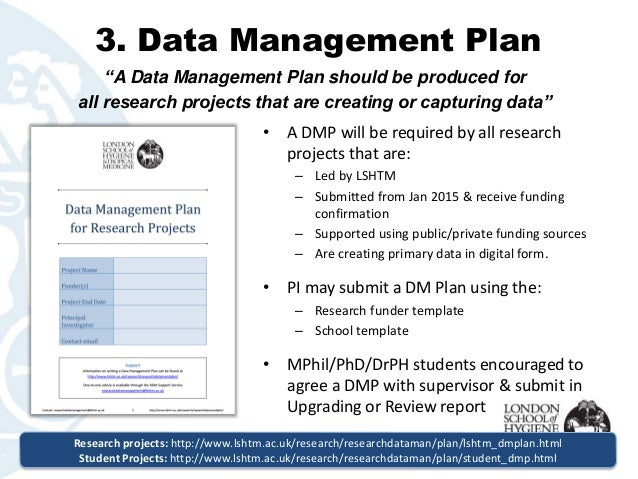 Data Management Policy Template LSHTM Research Data Management Policy An Overview