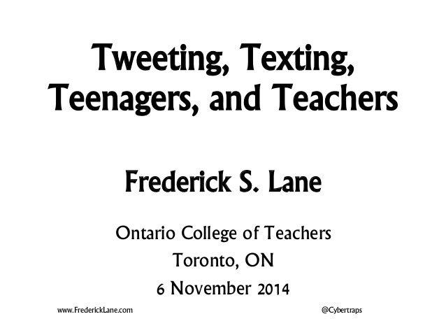 About Teens Not Tweeting 115