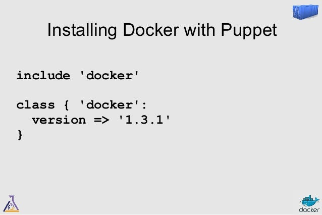 Should I use Puppet  to build Docker  container images?