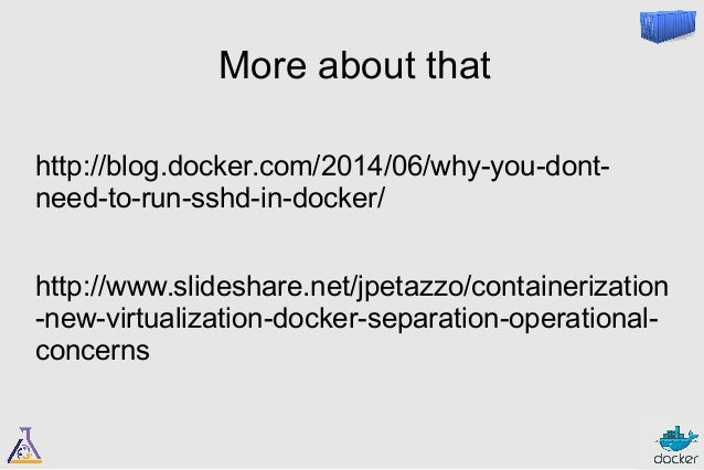 Puppet Camp Seattle 2014: Docker and Puppet: 1+1=3