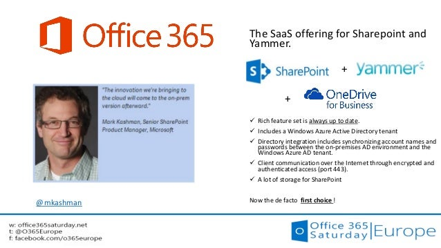 Office 365 saturday europe yammer office 365 sharepoint yos h - Yammer office 365 integration ...