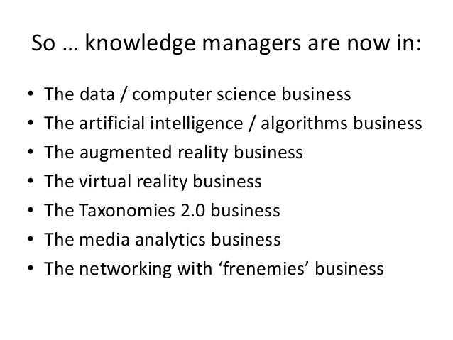 Knowledge Sharing in the Networked World of the Internet of Things