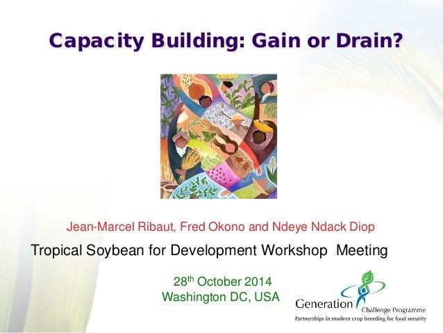 Jean-Marcel Ribaut, Fred Okono and Ndeye Ndack Diop Tropical Soybean for Development Workshop Meeting 28th October 2014 Wa...
