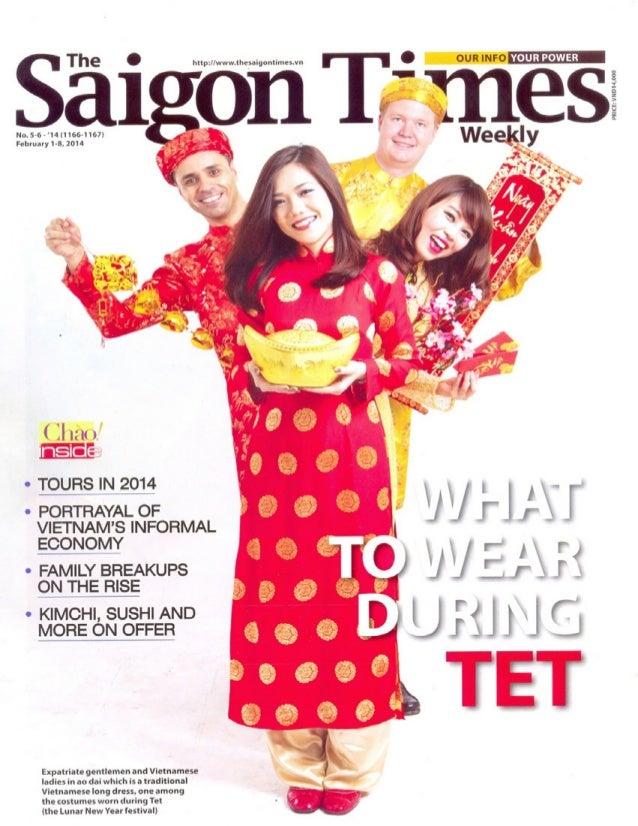Press Club Hanoi's Valentine's Day Celebrations featured in Saigon Times Newspaper, January 2014