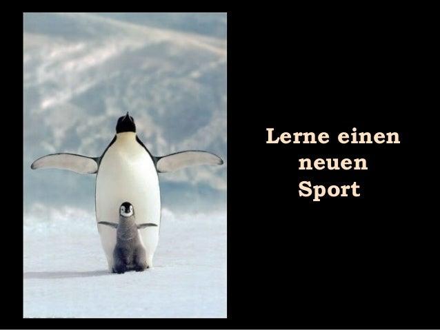Lerne einen neuen Sport