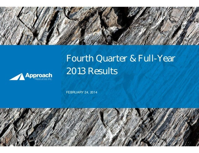 Fourth Quarter & Full-Year 2013 Results FEBRUARY 24, 2014