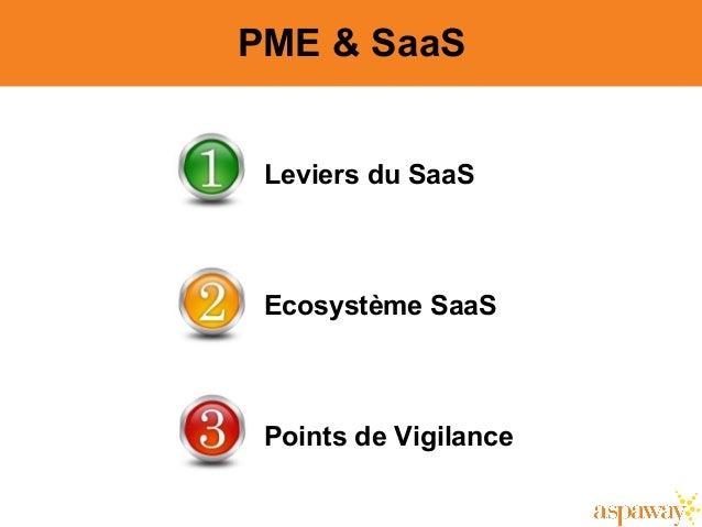 2 PME & SaaS Leviers du SaaS Ecosystème SaaS Points de Vigilance