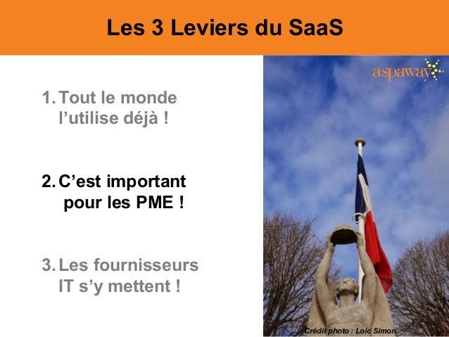 Les 3 Leviers du SaaS 1.Tout le monde l'utilise déjà ! 2.C'est important pour les PME ! 3.Les fournisseurs IT s'y mettent ...