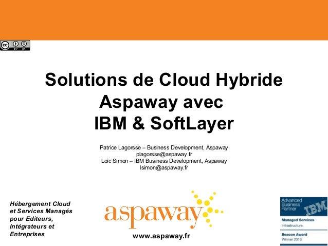 Hébergement Cloud et Services Managés pour Editeurs, Intégrateurs et Entreprises Solutions de Cloud Hybride Aspaway avec I...