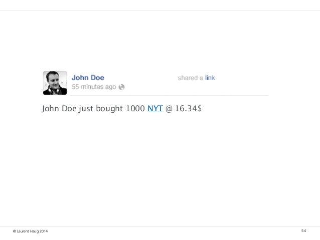 © Laurent Haug 2014 54 John Doe just bought 1000 NYT @16.34$