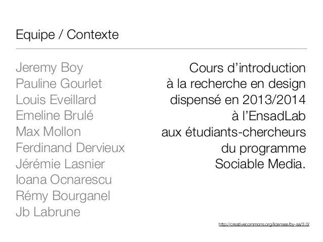 http://creativecommons.org/licenses/by-sa/3.0/ Equipe / Contexte Jeremy Boy Pauline Gourlet Louis Eveillard Emeline Brulé ...