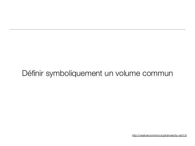 http://creativecommons.org/licenses/by-sa/3.0/ Définir symboliquement un volume commun