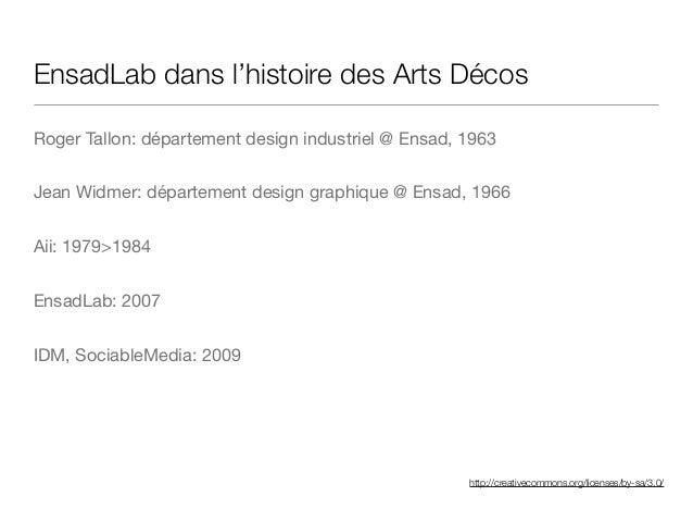 http://creativecommons.org/licenses/by-sa/3.0/ EnsadLab dans l'histoire des Arts Décos Roger Tallon: département design in...
