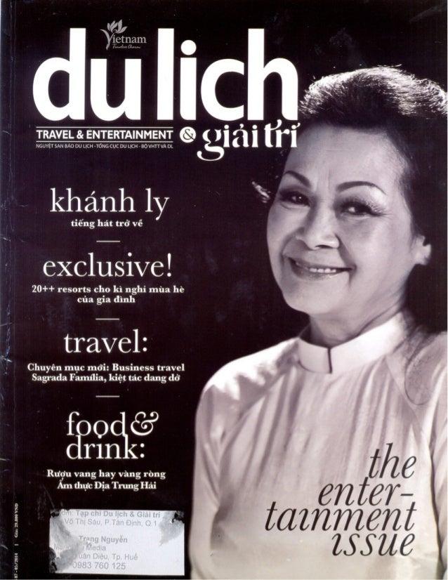 Tuần Ẩm Thực Ý của nhà hàng Press Club trên tạp chí Du Lịch và Giải Trí