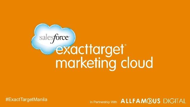 In Partnership With #ExactTargetManila