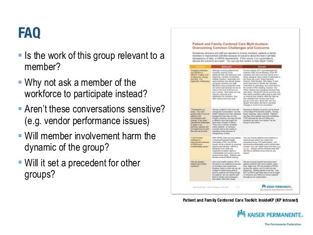 FAQ § Is the work of this group relevant to a member? Yes. § Why not ask a member of the workforce to participate instea...