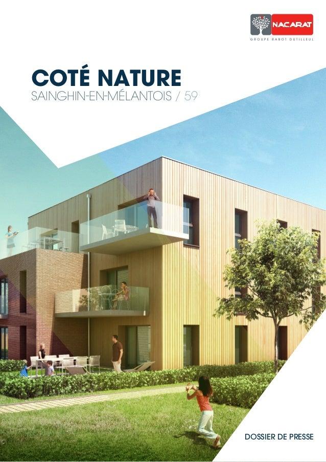 COTÉ NATURE  SAINGHIN-EN-MÉLANTOIS / 59  DOSSIER DE PRESSE