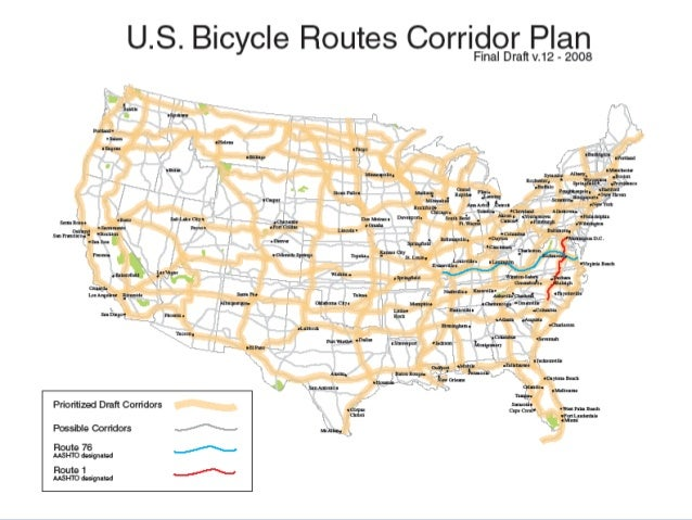 More Than Just Lines On A Map Best Practices For US Bike Routes - Us bike route 1 map