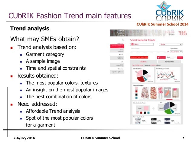 Cubrik Fashion Trend Analysis A Business Intelligence Application