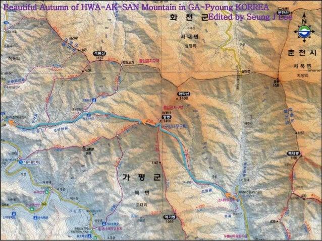 Beautiful Autumn of HWA-AK-SAN Mountain in GA-Pyoung KORREA  Edited by Seung J Lee