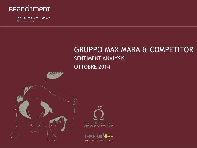 GRUPPO MAXMARA& COMPETITORSENTIMENT ANALYSISOTTOBRE2014