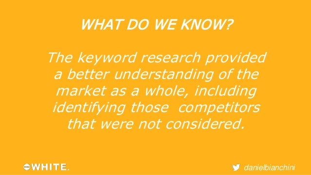 danielbianchini  WHAT DO WE KNOW?  Our research shows that  competitors are competing in  search, email and social but  on...