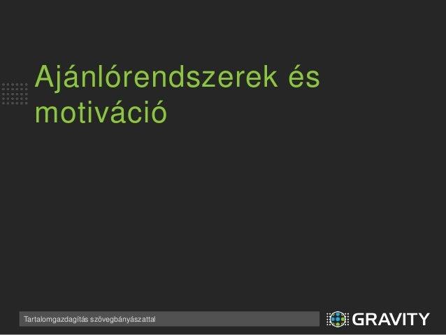 Tartalomgazdagítás (content enrichment)  Slide 3