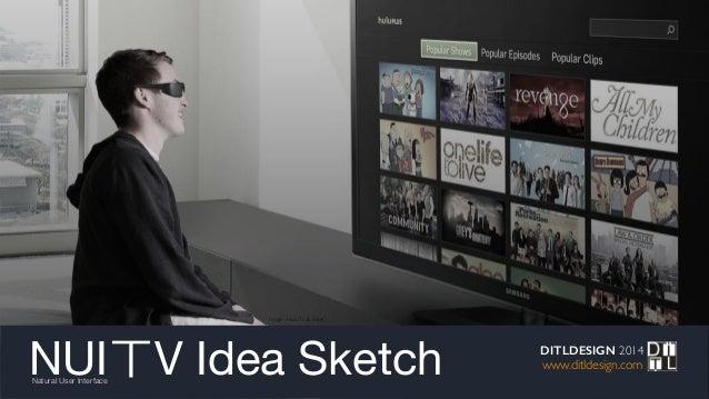 NUIㄒV Idea SketchNatural User Interface DITLDESIGN 2014 www.ditldesign.com Image : HuluTv & more