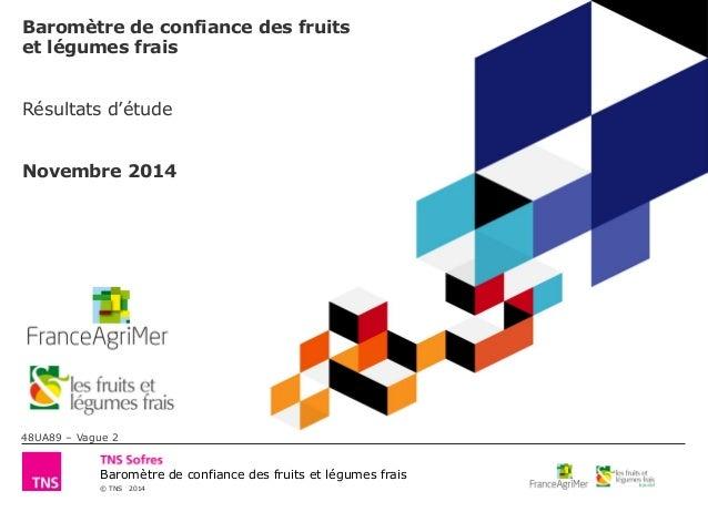 © TNS 2014 Baromètre de confiance des fruits et légumes frais Baromètre de confiance des fruits et légumes frais Résultats...